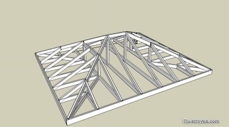 Беседка своими руками с четырехскатной крышей