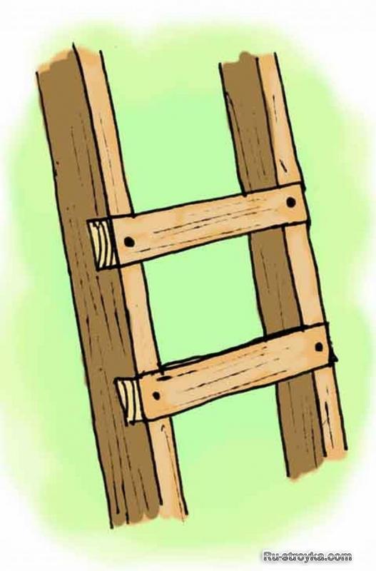 Как сделать простую лестницу своими руками