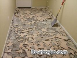 Удаление керамической плитки.
