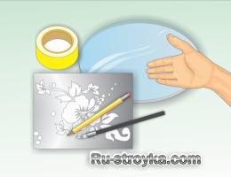 Как отпескоструить стекло.