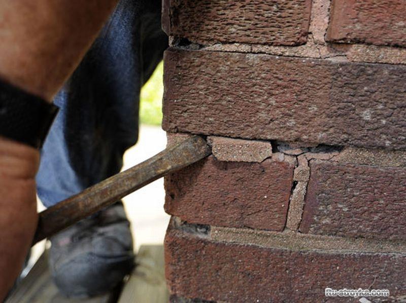 Как правильно сделать ремонт кирпичной кладки стен