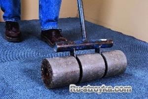 Монтаж ковровой плитки.
