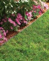 Как отделить газон от клумб.