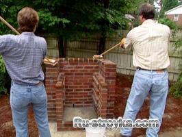 Как построить барбекю.