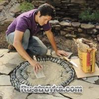 Как сделать мозаику в садовых дорожках.