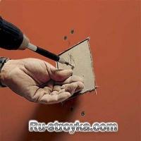 Как заделать дыры в гипсокартоне.