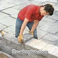 Как построить стену из камня.