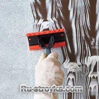 Имитация дерева с использованием краски.