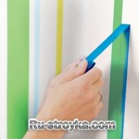 Как нарисовать полосатую стену.