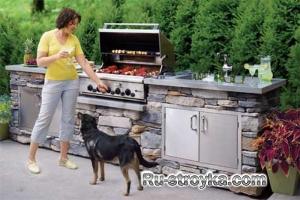Как построить летнюю кухню.