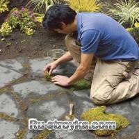 Как сделать площадку из камня.