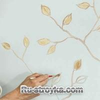 Как нарисовать на стенах, ветку дерева.