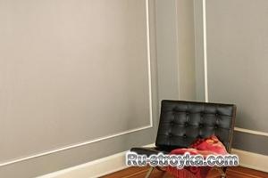 Покраска стен с окантовкой.