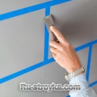 Как нарисовать плитку на стене.
