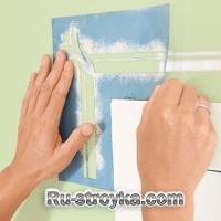 Нанесения рисунка при помощи трафарета, на стены.