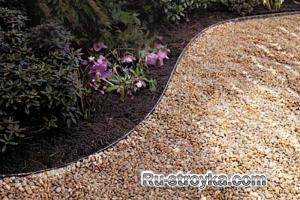 Как сделать садовую дорожку из гравия.