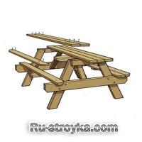Как сделать стол для пикника.