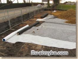 Строительство тротуарных дорожек.
