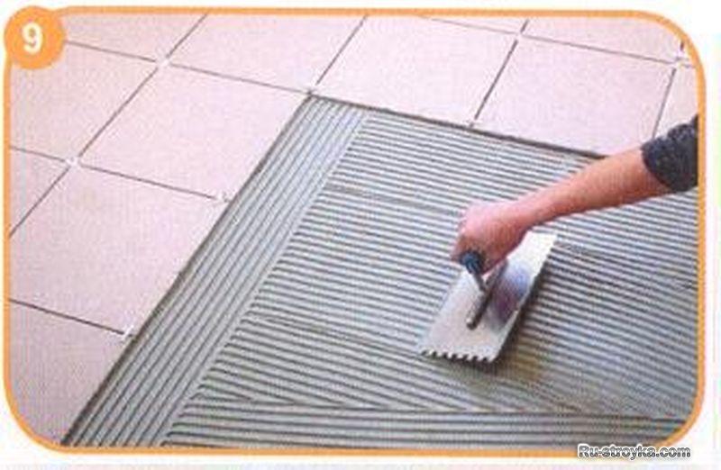 Ли плиточный на можно тротуарную клей положить плитку