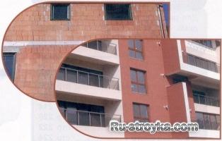 Как выполнить гладкий фасад здания под окраску.