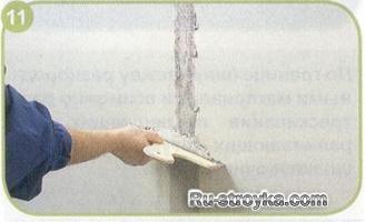 Как подготовить бетонную стену под оклейку обоями.