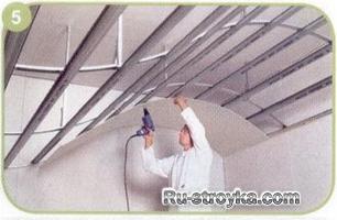 Как подготовить и покрасить каскадный (разноуровневый) потолок выполненный  из листовых материалов.