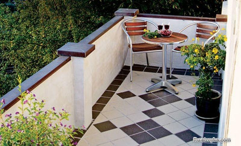 Как правильно и красиво уложить керамическую плитку на балко.