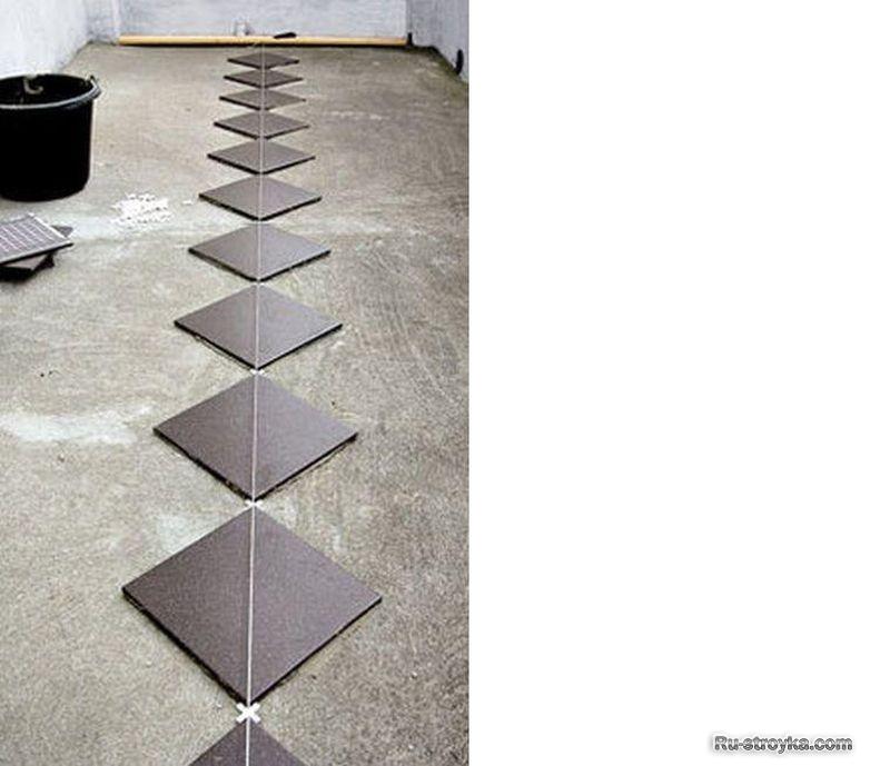 Уложить керамическую плитку