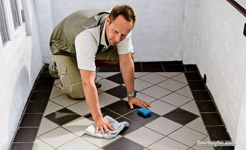 Как положить плитку в комнате своими руками на пол 264
