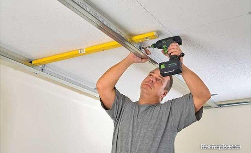 Подшить потолок своими руками