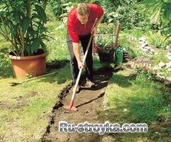 Изготовление садовой дорожки из коры.