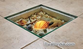 Полы из керамической плитки с применением 3D.