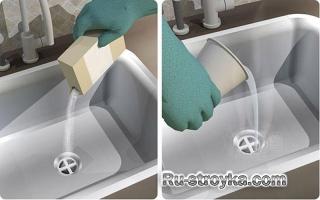 Как прочистить раковину.
