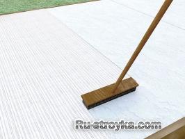 Изготовление бетонного покрытия.