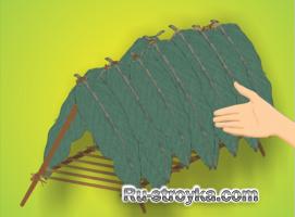 Изготовление шалаша с лежанкой.