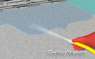 Очистка бетонной поверхности.