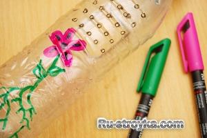 Как сделать лейку из бутылки.
