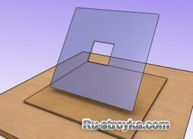 Как сделать ровное отверстие в стекле молотком