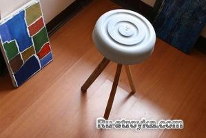 Как сделать стул из раствора.