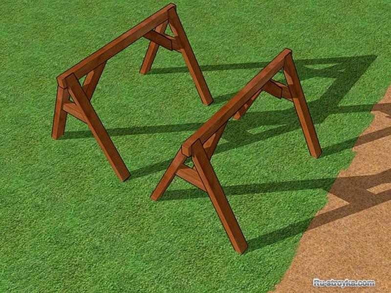 Как правильно сделать козла строительного