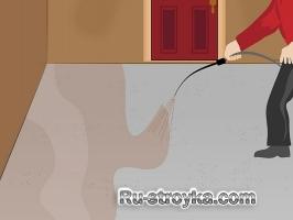 Кислотное травление бетонного пола.