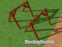 Как сделать строительные козлы.