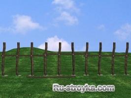 Забор из частокола