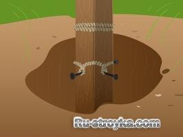 Удаление деревянных столбов