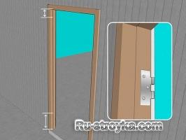 Установка дверных петель.
