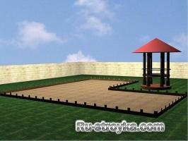 Площадка из кирпича