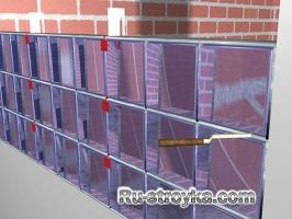 Как установить стеклянные блоки