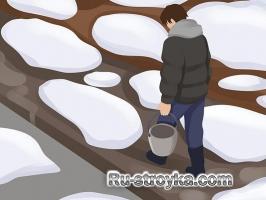 Очистка тротуара от льда