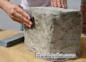 Как сделать искусственный камень.