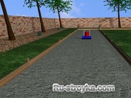 Как сделать бетонную дорогу изогнутого вида.